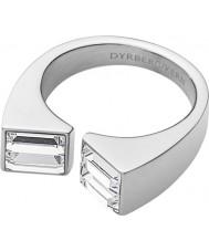 Dyrberg Kern 339078 Ladies cadre iii zilveren stalen ring met Swarovski Elements - formaat q