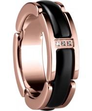 Bering Time 502-36-55-J Ladies zwarte keramische en rose gouden ring - maat j