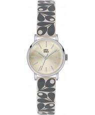 Orla Kiely OK2043 Ladies patricia crème eikel druk lederen band horloge