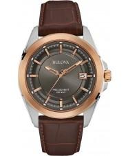 Bulova 98B267 Mens precisionist bruin lederen horloge