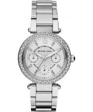 Michael Kors MK5615 Ladies parker zilveren stalen armband horloge