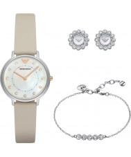 Emporio Armani AR80001 Dames jurk horloge cadeau set