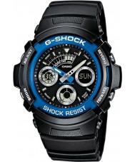 Casio AW-591-2AER Mens G-shock zwarte chronograaf sporthorloge