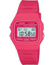 Casio F-91WC-4AEF Mens retro collectie roze chronograafhorloge