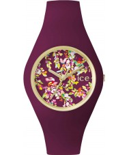 Ice-Watch 001444 Ice-flower exclusieve paarse siliconen band horloge