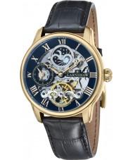 Thomas Earnshaw ES-8006-05 Mens lengte zwarte croco lederen band horloge