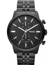 Fossil FS4787 Mens townsman chronograaf zwart horloge