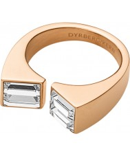 Dyrberg Kern 339090 Ladies cadre iii rose goud verguld ring met Swarovski Elements - formaat q