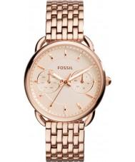 Fossil ES3713 Dames maat rose gouden stalen armband horloge