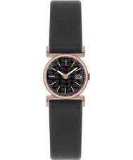 Orla Kiely OK2044 Ladies cecelia zwart lederen band horloge