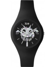Ice-Watch 001445 Ice-ghost exclusieve zwarte siliconen band horloge