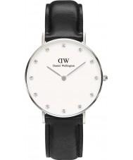 Daniel Wellington DW00100080 Ladies classy Sheffield 34mm zilveren horloge