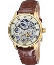 Thomas Earnshaw ES-8006-06 Mens lengte bruine croco lederen band horloge