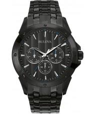 Bulova 98C121 Mens jurk zwart ip chronograafhorloge