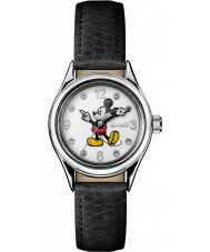 Disney by Ingersoll ID00902 Ladies unie zwart lederen band horloge