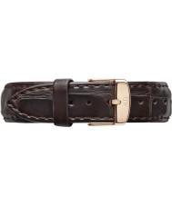 Daniel Wellington DW00200038 Dames klassieke york 36mm rose goud donker bruin lederen reserveonderdelen riem
