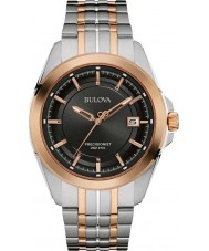 Bulova 98B268 Mens precisionist two tone stalen armband horloge