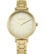 Karen Millen KM126GM Dames vergulde armband horloge