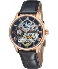 Thomas Earnshaw ES-8006-07 Mens lengte zwarte croco lederen band horloge