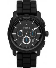 Fossil FS4487 Mens machine chronograaf zwart horloge