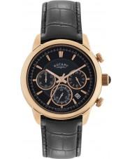 Rotary GS02879-04 Mens uurwerken monaco zwarte chronograaf