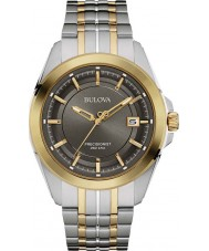Bulova 98B273 Mens precisionist two tone stalen armband horloge
