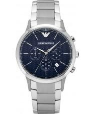 Emporio Armani AR2486 Heren Classic chronograaf zilveren horloge
