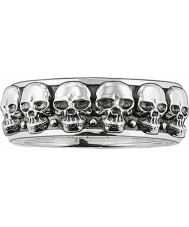 Thomas Sabo TR1878-001-12-62 Mens zilveren skull ring band - size T.5-u (eu 62)