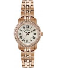 Rotary LB02597-41 Ladies uurwerken crystal bezel rose goud verguld horloge