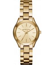 Michael Kors MK3512 Dames slanke landingsbaan vergulde armband horloge