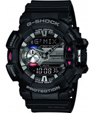 Casio GBA-400-1AER Mens G-shock black bluetooth combi horloge