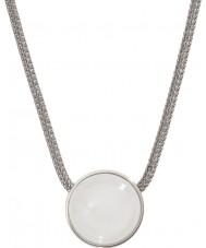 Skagen SKJ0080040 Ladies zee glas zilveren stalen ketting