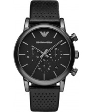 Emporio Armani AR1737 Heren Classic chronograaf ip zwart lederen band horloge