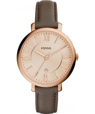 Fossil ES3707 Ladies jacqueline grijs lederen band horloge