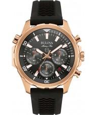 Bulova 97B153 Mens marine ster zwarte rubberen band chronograaf horloge
