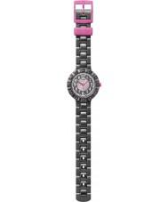 Flik Flak FCSP021 Meisjes cuorantra zwarte siliconen band horloge
