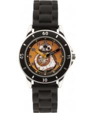 Disney SWM3046 Jongens bb-8 horloge met zwarte siliconen band