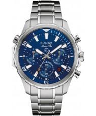 Bulova 96B256 Mens marine ster zilveren chronograafhorloge