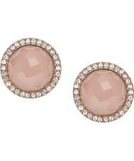 Fossil JF02498791 Ladies rose goud staal oorbellen