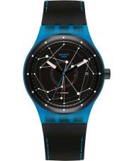 Swatch SUTS401 Sistem51 - Sistem blauwe automatisch horloge