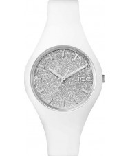Ice-Watch 001344 Ladies ice-glitter witte siliconen band kleine horloge