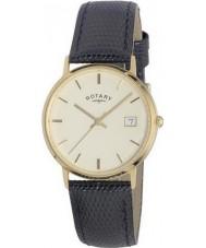 Rotary GS11476-03 Mens edelmetalen 9ct gouden kast horloge