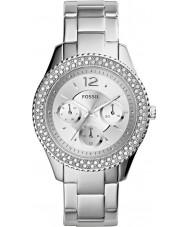 Fossil ES3588 Ladies stella zilveren horloge