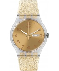 Swatch SUOK704 New gent - golden sparkle horloge