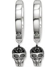 Thomas Sabo CR573-051-11 Dames zilveren schedel scharnierend hoepel oorbellen