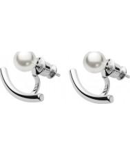 Skagen SKJ0921040 Ladies Agnethe stalen oorbellen met parels