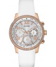 Guess W0616L1 Ladies zonsopgang witte siliconen band horloge
