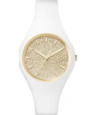 Ice-Watch 001352 Ice-glitter exclusieve witte siliconen band horloge