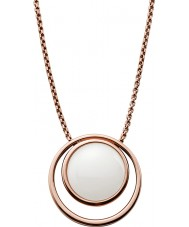 Skagen SKJ0821791 Ladies zee glas rose goud vergulde ketting