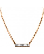 Dyrberg Kern 339134 Ladies trunca rose goud verguld collier met Swarovski Elements